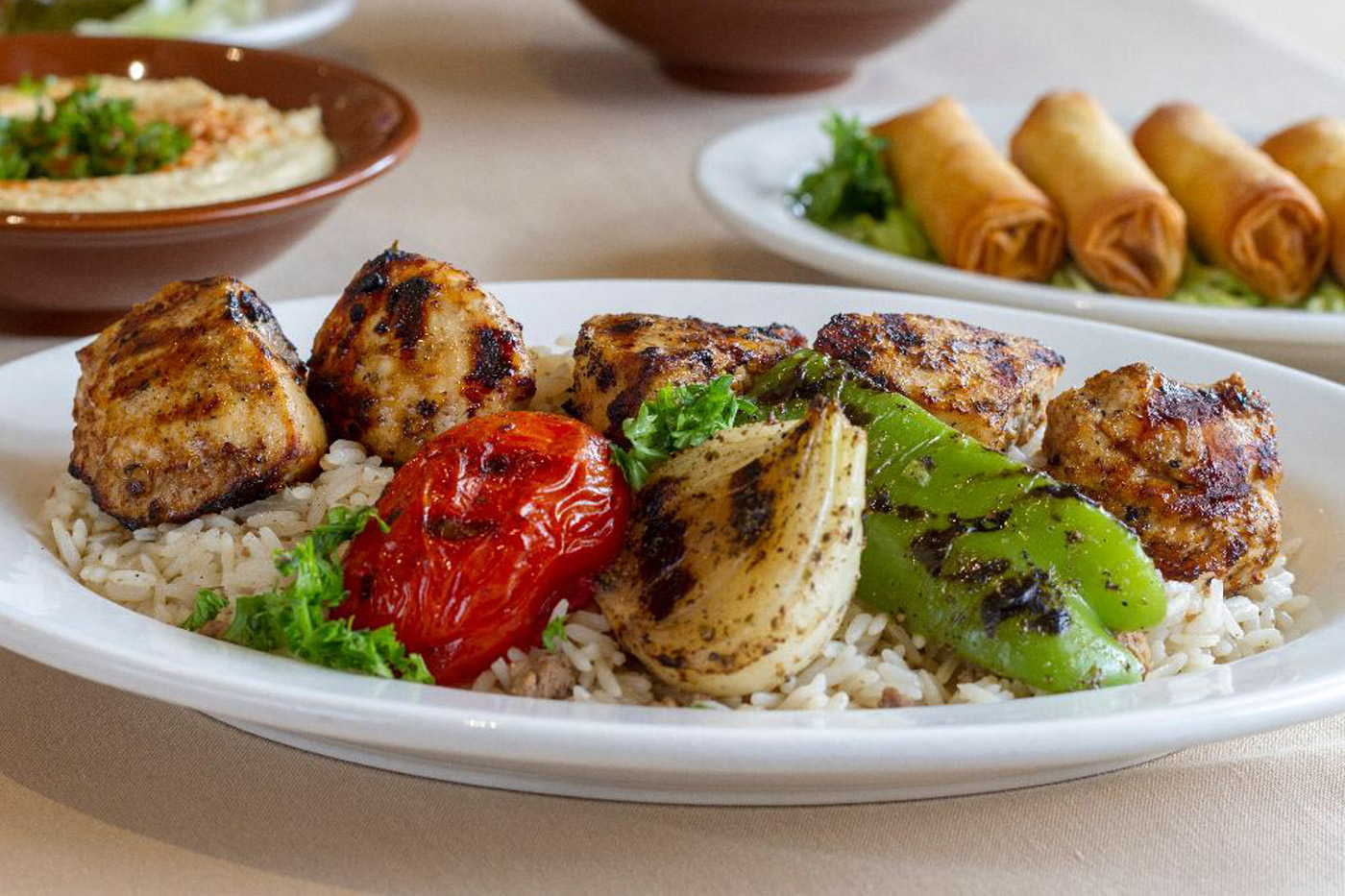 grilled chicken and rice dish