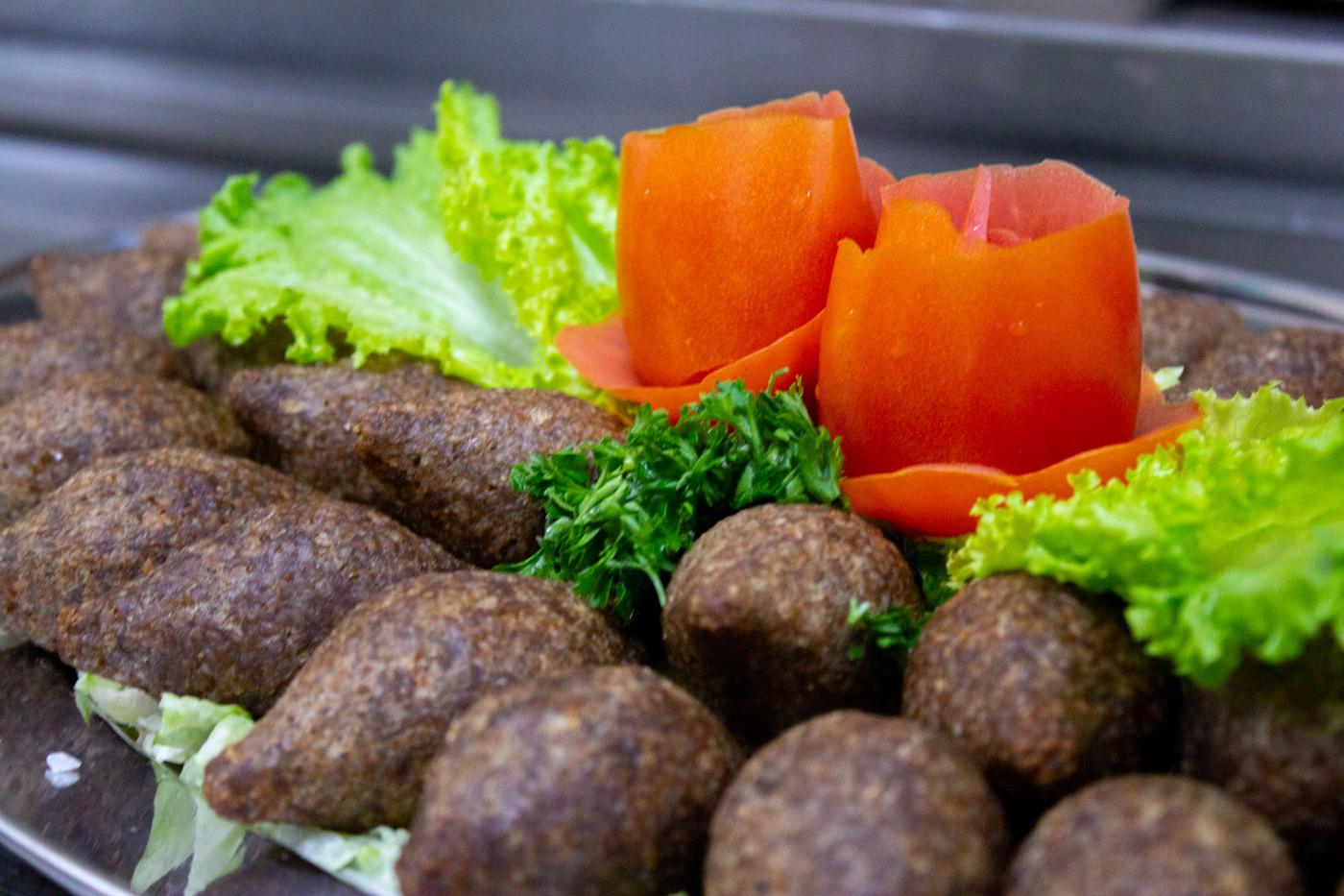platter of kibbeh balls