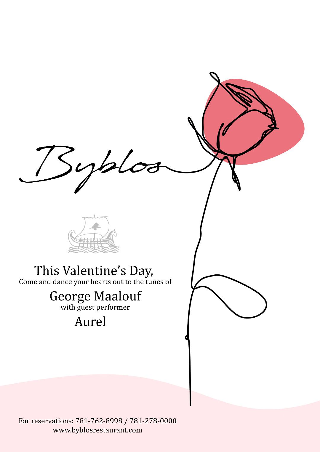Byblos Restaurant Valentine's Day Event 2020